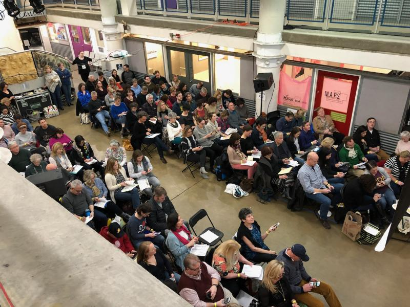 Torpedo factory audience in the Northern section