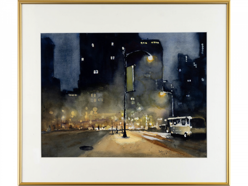 """""""City Fog, Last Bus Home"""" by Peter Ulrich"""